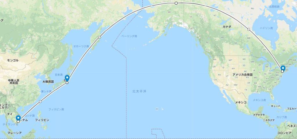 NYからアジアへ
